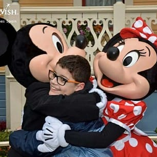 David, Mickey y Minnie